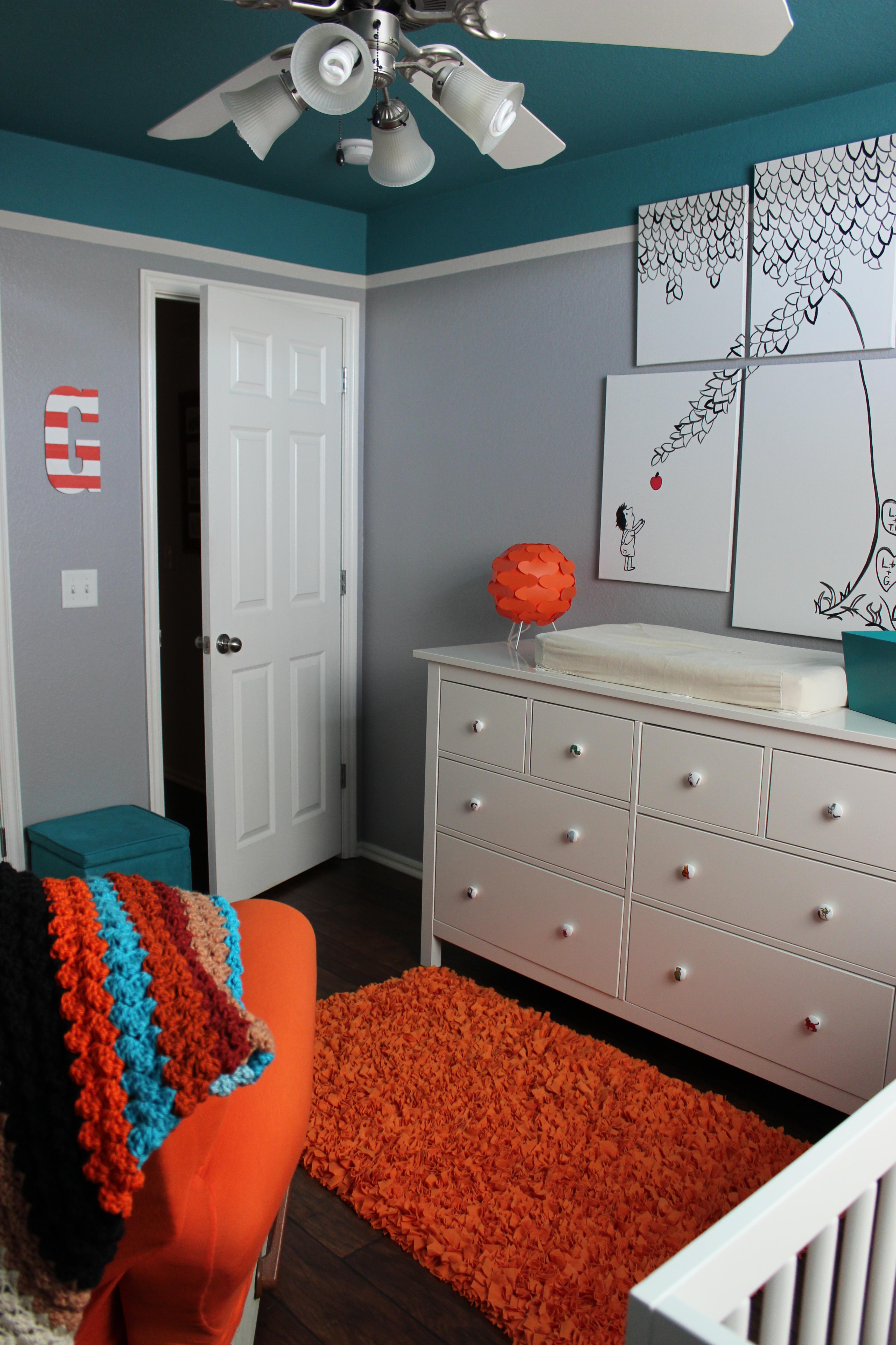 Orange And Teal Bedroom Orange And Teal Nursery Archives Okieolio