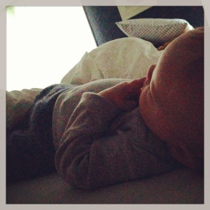 7:02 am--every morning. this. no matter what the day brings, it can never start wrong with snuggles in bed.