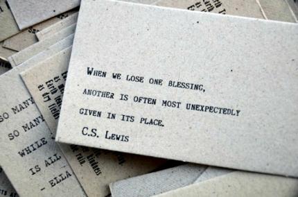C.S. Lewis - blessings